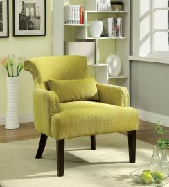 Agalva AC6113GR Flared Scroll Back Accent Chair