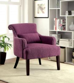Agalva AC6113PR Flared Scroll Back Accent Chair