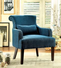 Agalva AC6113TL Flared Scroll Back Accent Chair