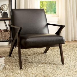 Dubois AC6265BR Dark Brown Leatherette Accent Chair