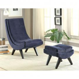 Esmeralda AC6839NV Curved Frame Accent Chair