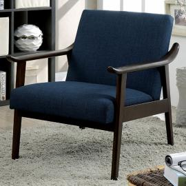 Deidre AC6840NV Navy Curved Arm Accent Chair