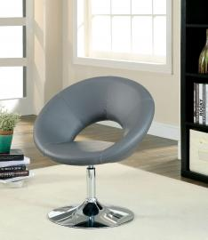 Faliro AC6915GY Circular Swivel Accent Chair