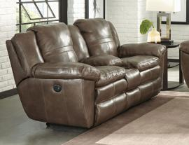 Aria Smoke Collection 4199 by Catnapper Italian Leather Reclining Loveseat