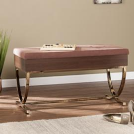 BC1042 Rothley by Southern Enterprises Tufted Lift-Top Storage Bench