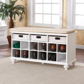 BC4014 Chelmsford By Southern Enterprises Entryway/Shoe Bench - White