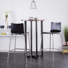 BC8411 Holly & Martin Blence By Southern Enterprises 2pc Barstool Set - Black