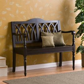 BC9377T Granbury By Southern Enterprises Black Bench