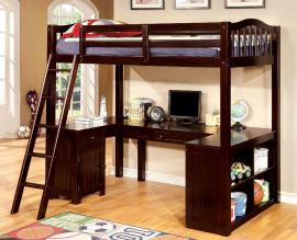 Dutton Collection BK265EX Espresso Twin Workstation Bunk Bed