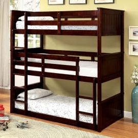 Therese BK628 Triple Wood Twin Bunk Bed