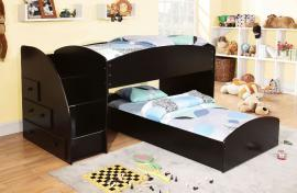 Merritt Collection BK921BK-T Black Twin/Twin Bunk Bed