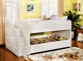 Merritt Collection BK921WH-T White Twin/Twin Bunk Bed