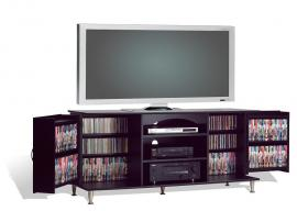 "Premier Black 60"" Flat Panel LCD / Plasma TV Stand with Multimedia (DVD,CD,Games) Storage BPS6000"