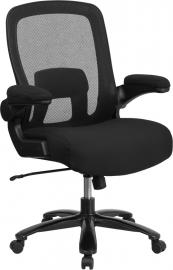 Flash Furniture Hercules Big & Tall 500 LB Rated Black Mesh Swivel Chair