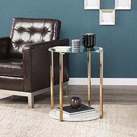 CK1452 Avenida By Southern Enterprises End Table - Glam Style - Warm Gold