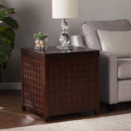 CK2652 Narita By Southern Enterprises Cocktail Trunk End Table - Espresso