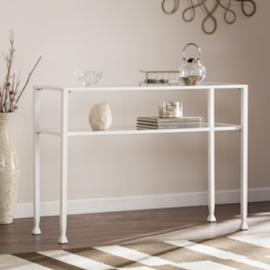 CK4773 Jaymes By Southern Enterprises Metal/Glass Console Table - White