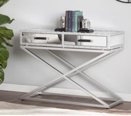CK4813 Lazio By Southern Enterprises Industrial Mirrored Console Table