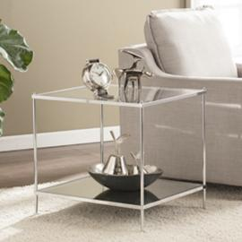 CK5002 Knox By Southern Enterprises Glam Mirrored End Table - Chrome
