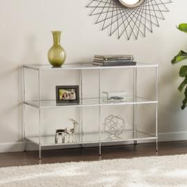 CK5003 Knox By Southern Enterprises Glam Mirrored Console Table - Chrome
