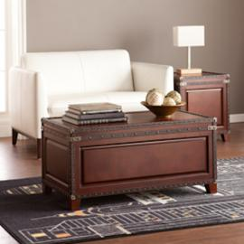 CK5480 Amherst By Southern Enterprises Trunk Cocktail Table