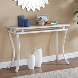 CK7423 Edisto By Southern Enterprises Rectangular Console Table - White