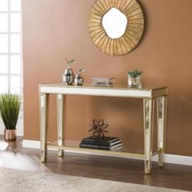 CK8123 Metz By Southern Enterprises Mirrored Console Table
