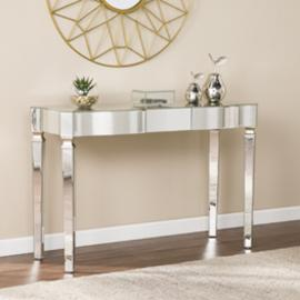 CK8143 Roubaix By Southern Enterprises Antique Mirrored Console Table - Glam Style