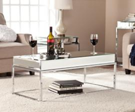 CK9270 Dana By Southern Enterprises Mirrored Cocktail Table