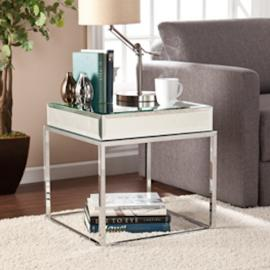 CK9272 Dana By Southern Enterprises Mirrored End Table