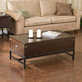 CK9820 Voyager By Southern Enterprises Storage Cocktail Table - Espresso