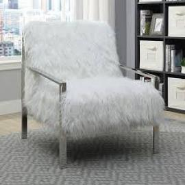 Birr by Furniture of America CM-AC6137WH Accent Chair