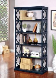 Joan Collection CM-AC6280BL Blue Bookcase