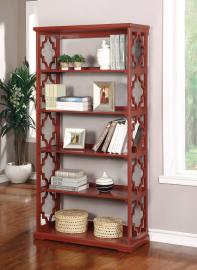 Joan Collection CM-AC6280RD Red Bookcase