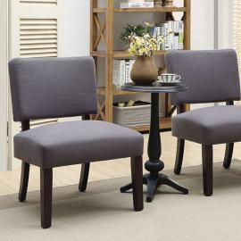 Arvid by Furniture of America CM-AC6333-3PK Accent Chairs & Accent Table 3PC Set-9029