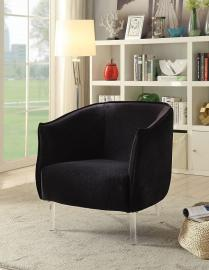 Donostia by Furniture of America CM-AC6348BK Accent Chair