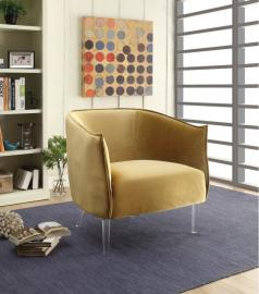 Donostia by Furniture of America CM-AC6348YW Accent Chair