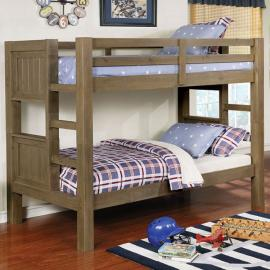 Kindred Rustic Gray Finish Twin/Twin Bunk Bed Bed CM-BK911 by Furniture of America