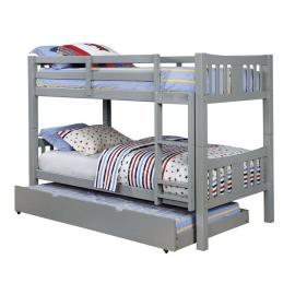 Cameron Collection CM-BK929GY-TR Twin/Twin Bunk Bed With Trundle