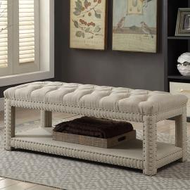 Einar by Furniture of America CM-BN6058BG-S Accent Bench