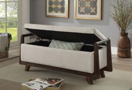 Finn by Furniture of America CM-BN6069BG Accent Bench