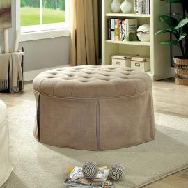 Claes by Furniture of America CM-BN6175BR Round Ottoman