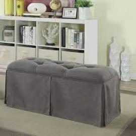 Kilrush by Furniture of America CM-BN6176GY Ottoman