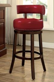 Buchanan by Furniture of America CM-BR6251RD Swivel Bar Stool Set of 2