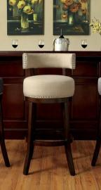 Buchanan by Furniture of America CM-BR6252BG Swivel Bar Stool Set of 2