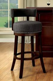 Buchanan by Furniture of America CM-BR6252GY Swivel Bar Stool Set of 2