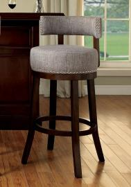 Buchanan by Furniture of America CM-BR6252LG Swivel Bar Stool Set of 2