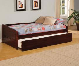Sunset Collection 1737 Cherry Wooden Twin Daybed with Trundle