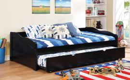 Sunset Collection 1737BK Black Wooden Twin Daybed with Trundle
