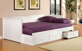 Wolford Collection 1927WH White Full Daybed with Drawers